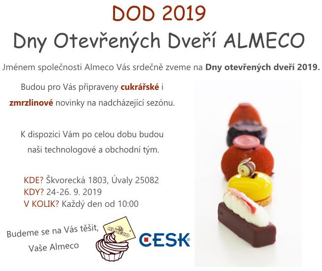 Pozvánka na dny otevřených dveří ALMECO